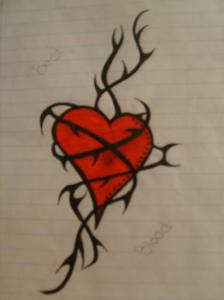 heartvinetattoo